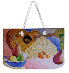 Weekender Tote Bag featuring the painting Ukelele by Beverley Harper Tinsley