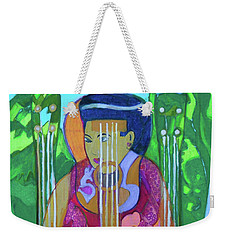Weekender Tote Bag featuring the painting Ukulele Four Strings by Denise Weaver Ross