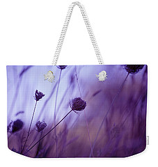 Ultra Violet Botanical Weekender Tote Bag