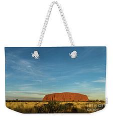 Weekender Tote Bag featuring the photograph Uluru Sunset 01 by Werner Padarin