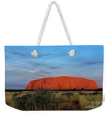 Weekender Tote Bag featuring the photograph Uluru Sunset 03 by Werner Padarin