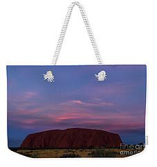 Weekender Tote Bag featuring the photograph Uluru Sunset 04 by Werner Padarin