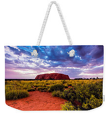 Weekender Tote Bag featuring the photograph Uluru by Ulrich Schade