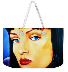 Uma Thurman In Pulp Fiction Weekender Tote Bag
