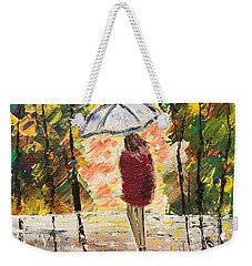 Umbrella Girl Weekender Tote Bag