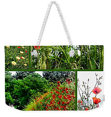 Umbrian Red Poppy Collage Weekender Tote Bag