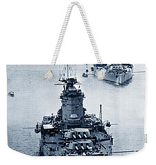 Hms Nelson And Hms Rodney Battleships And Battlecruisers Hms Hood Circa 1941 Weekender Tote Bag