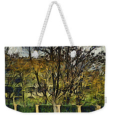 Un Cheteau Dans Le Paradis - One Of Two  Weekender Tote Bag by Sir Josef - Social Critic -  Maha Art