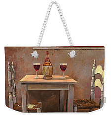 un fiasco di Chianti Weekender Tote Bag by Guido Borelli