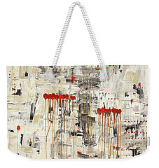 Weekender Tote Bag featuring the painting Un Pour Tous by Carmen Guedez