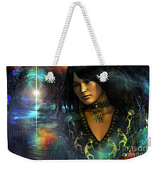 Weekender Tote Bag featuring the digital art Una   ...   Remember by Shadowlea Is