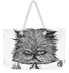 Unbalance Cat Weekender Tote Bag