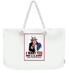 Uncle Sam -- I Want You Weekender Tote Bag by War Is Hell Store