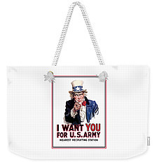 Uncle Sam -- I Want You Weekender Tote Bag