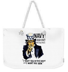 Uncle Sam Wants You In The Navy Weekender Tote Bag