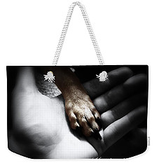 Weekender Tote Bag featuring the photograph Unconditional by Shana Rowe Jackson