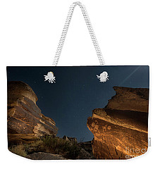Weekender Tote Bag featuring the photograph Uncounted Years Under The Moonlight by Melany Sarafis