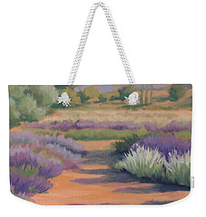Under A Summer Sun In Lavender Fields Weekender Tote Bag