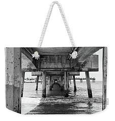 Under Belmont Veterans Memorial Pier Weekender Tote Bag