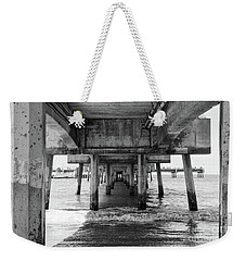 Under Belmont Veterans Memorial Pier Weekender Tote Bag