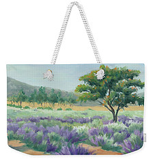 Under Blue Skies In Lavender Fields Weekender Tote Bag