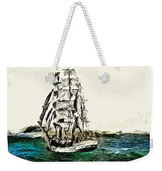 Weekender Tote Bag featuring the photograph Under Full Canvas by Blair Stuart