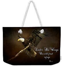 Under His Wings Weekender Tote Bag by Eleanor Abramson