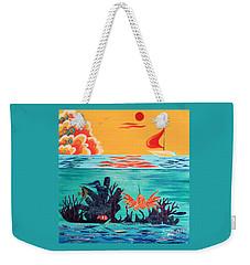Bright Coral Reef Weekender Tote Bag