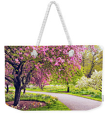 Under The Apple Tree Weekender Tote Bag by Jessica Jenney