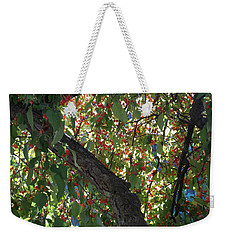 Under The Berry Tree Weekender Tote Bag by Catherine Gagne