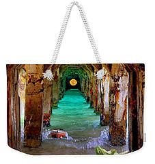 Under The Broadwalk Weekender Tote Bag by Mojo Mendiola