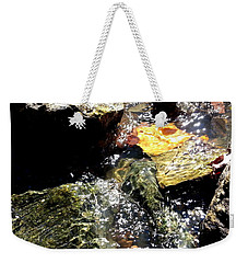 Weekender Tote Bag featuring the photograph Under The Glass Of Water by Robert Knight