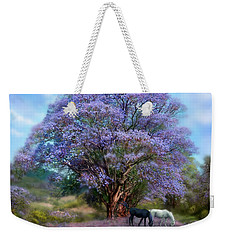 Under The Jacaranda Weekender Tote Bag