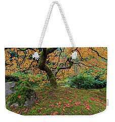 Under The Japanese Mape Tree In Fall Season Weekender Tote Bag by Jit Lim