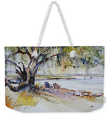 Under The Live Oak Weekender Tote Bag by P Anthony Visco