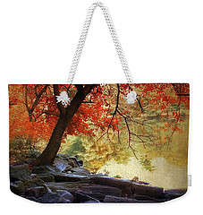Weekender Tote Bag featuring the photograph Under The Maple by Jessica Jenney