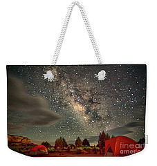 Weekender Tote Bag featuring the photograph Under The Milky Way by Anne Rodkin