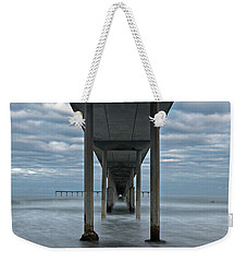 Weekender Tote Bag featuring the photograph Under The Ocean Beach Pier San Diego Early Morning by James Sage