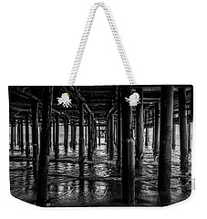 Under The Pier - Black And White Weekender Tote Bag