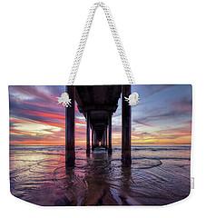 Under The Pier Sunset Weekender Tote Bag