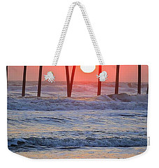 Under The Pier - Sunset Weekender Tote Bag by Shelia Kempf