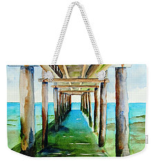 Under The Playa Paraiso Pier Weekender Tote Bag