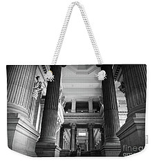 Weekender Tote Bag featuring the photograph Under The Scaffolding Of The Palace Of Justice - Brussels by RicardMN Photography