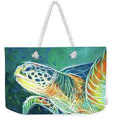 Weekender Tote Bag featuring the painting Under The Sea by Angela Treat Lyon