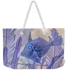 Weekender Tote Bag featuring the photograph Under The Sea Colorful Watercolor Art #8 by Debra and Dave Vanderlaan
