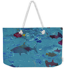 Weekender Tote Bag featuring the painting Under The Sea by Robert Margetts