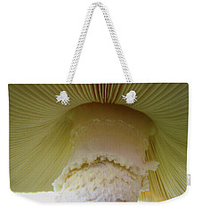 Weekender Tote Bag featuring the photograph Under The Shroom by J R Seymour