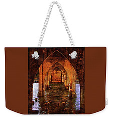 Weekender Tote Bag featuring the photograph Under The Siuslaw River Bridge by Thom Zehrfeld