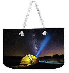 Under The Stars Weekender Tote Bag by Alpha Wanderlust