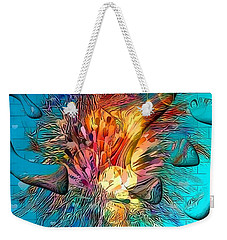 Weekender Tote Bag featuring the digital art Under Water By Nico Bielow by Nico Bielow